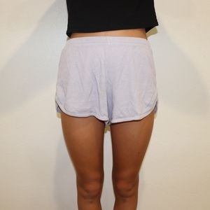 Purple Lisette Thermal Shorts